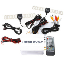 DVB-T Set-Top Box (HD SD) samochód cyfrowy przenośny odbiornik tv DVB-T odbiornik MPEG4 HDMI samochód tuner tv DVB-T odbiornik tv AV w tanie tanio NoEnName_Null Srebrny 130*120*27mm DVB-T999B 12 v VHF-H 174~230Mhz UHF 470~862Mhz CAR MOBILE DVB-T TV Receiver Compliant with DVB-T standards