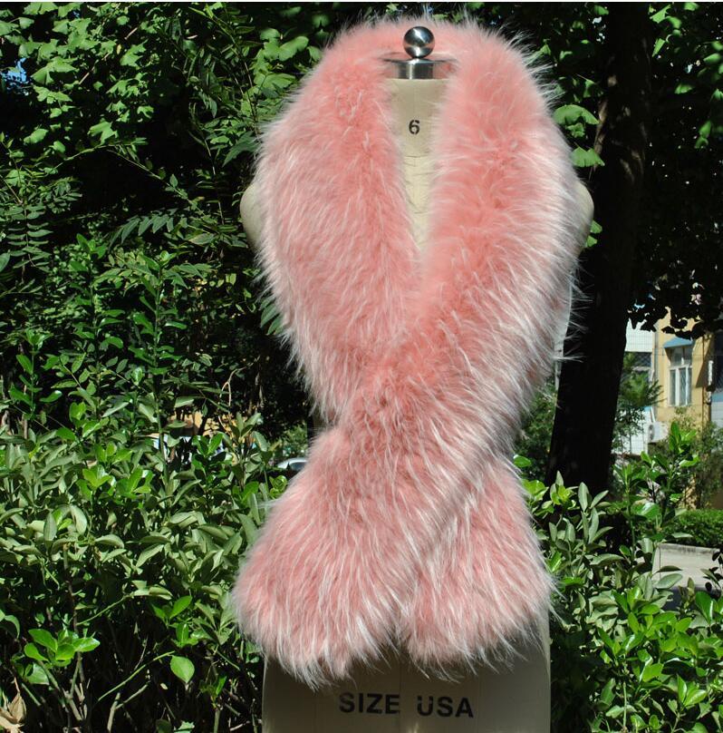 Châle coloré nouveau type renard-comme fourrure châle fourrure-comme cou écharpe de mariée en porte-à-faux robe de soirée cape cadeau spécial