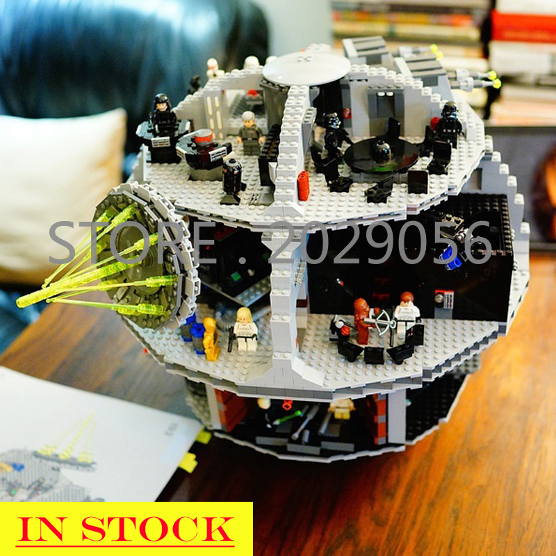 In Stock 05035 Star Wars Fighter Series Death Star Tarkin Doctrine Building Blocks 3081pcs Bricks Toys Compatible Bela 75159