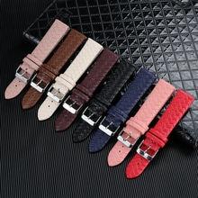 20 мм плетеный узор pu кожаный ремешок для часов браслет аксессуары