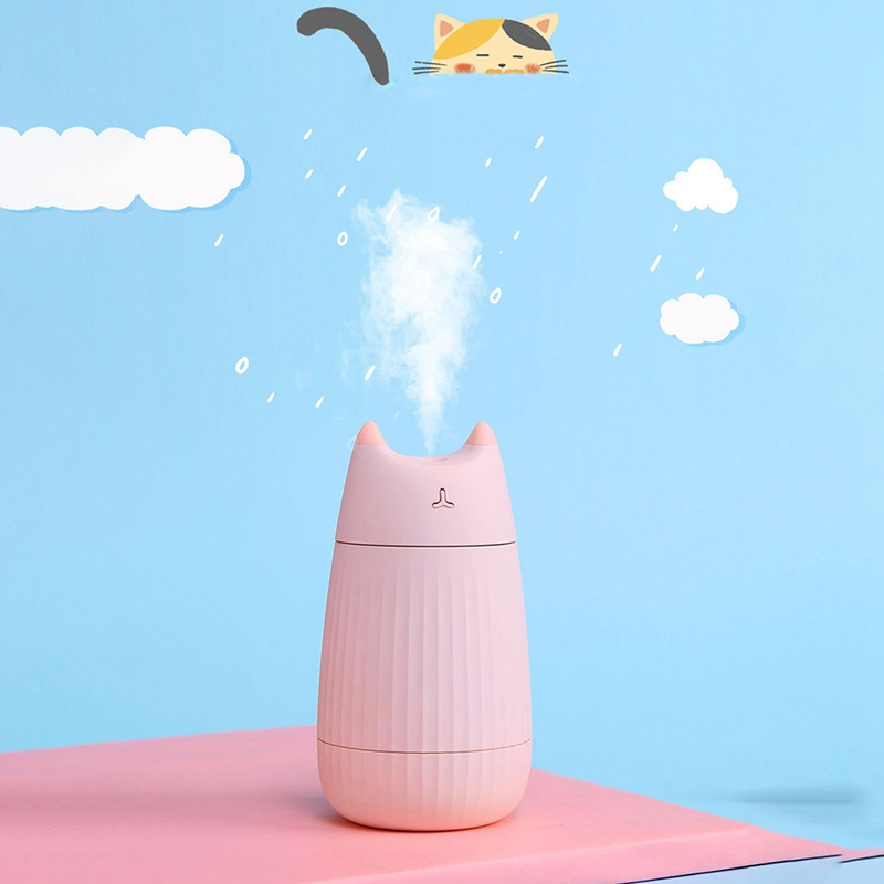 Cat Shape Humidifier Ultrasonic Essential Oil Diffuser USB 200ML Aromatherapy Air Purifier for Home Car Freshener Mist Maker Pin image