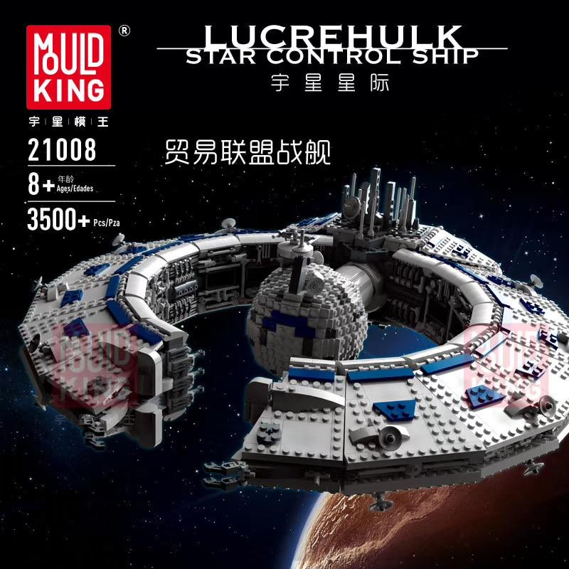 Mould King 21008 Star Toys Wars MOC-13056 Class Battleship (Droid Control Ship) Building Blocks Kids Christmas Toys Gifts