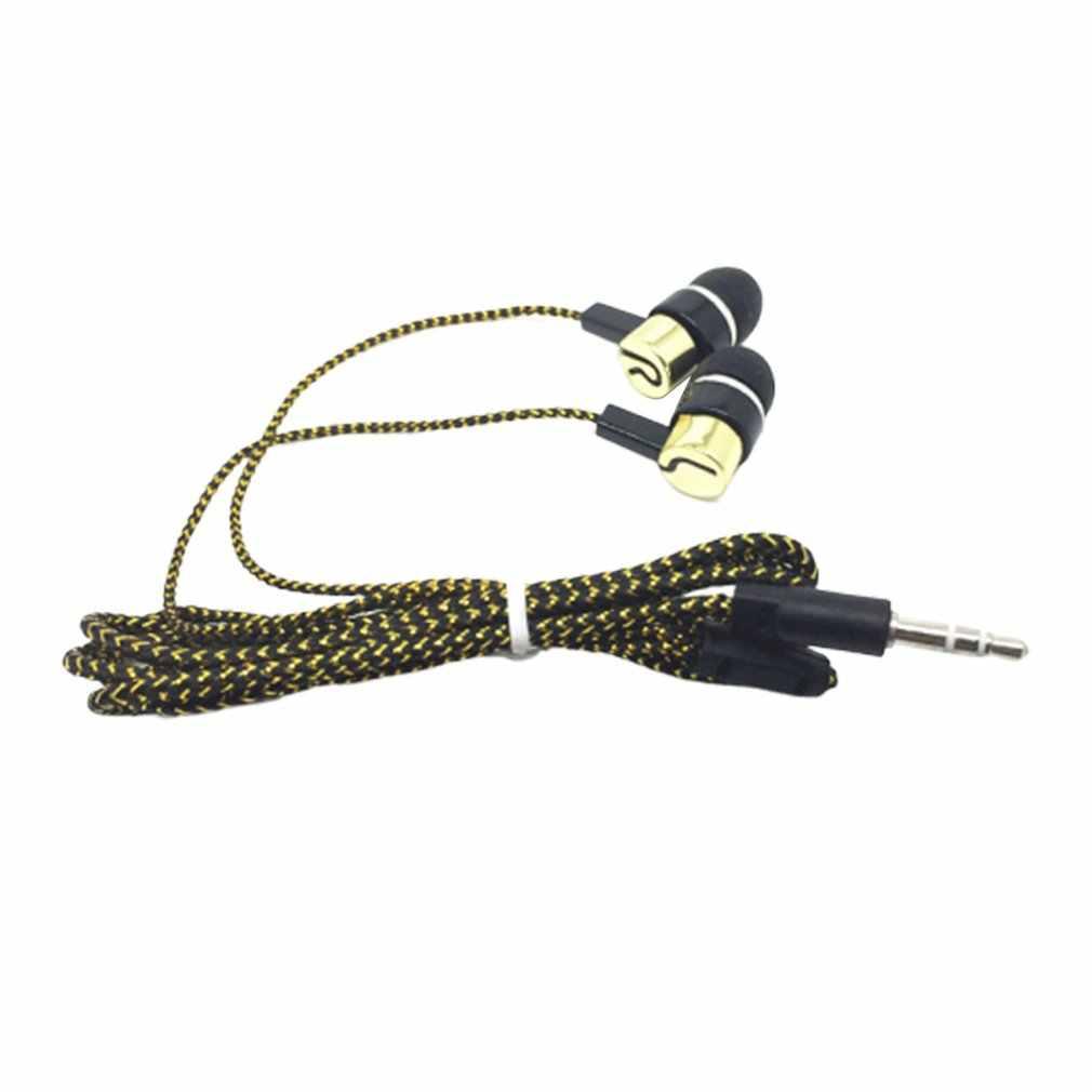 مضفر سماعة أذن سلكية مضخم صوت سماعات أذن داخل الأذن عزل الضوضاء سماعة للهواتف MP3 MP4 PC لعبة