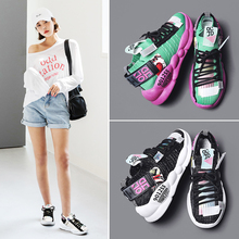 Liren 2019 Summer Fashion Casual Women Vulcanize Shoes Mixed Colors Colorful Pattern Air Mesh Comfortable Breathable