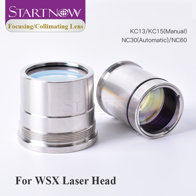 Startnow D30 37 F100 Laser Focus Collimating Lens With Lens Holder For WSX KC13 NC60 0-4KW Laser Cutting Head Fiber Collimator
