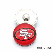 Snap Button 18mm 12mm San Francisco 49ers Charms Ginger Bracelet for Women Men Football Fans Gift Paty Birthday Fashion 2019(China)