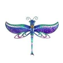 Liffy presente libélula arte da parede para decoração do jardim ao ar livre animais decorativos e estátuas de jardim