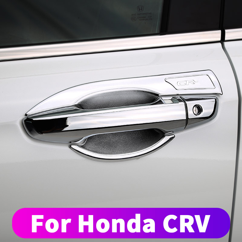 Car handle door bowl protector Car door handle handle door bowl decoration stickers For Honda crv CR-V 2017 2018 <font><b>2019</b></font> Modified <font><b>d</b></font> image