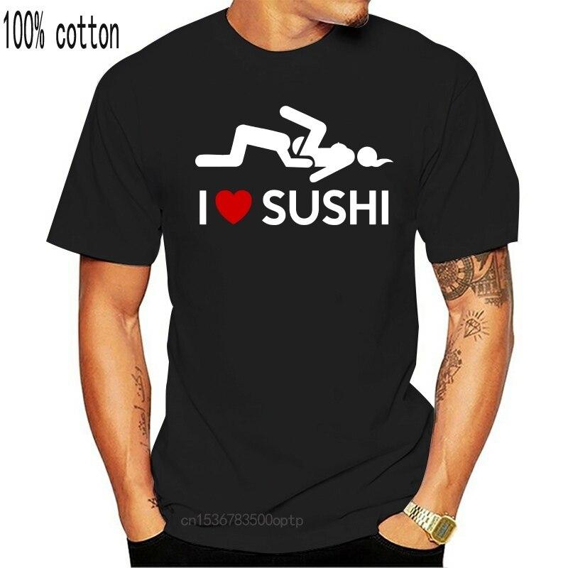 Футболка на заказ I Love суши