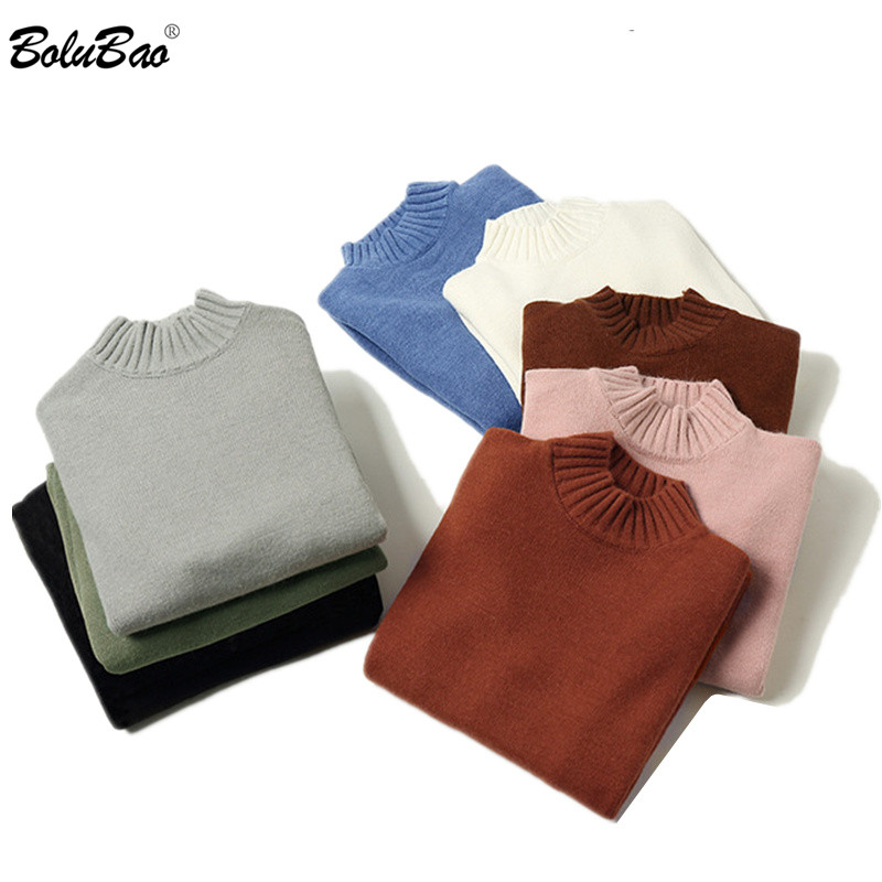 BOLUBAO Autumn New Men Fashion Sweater Trend Brand Men's Slim Fit O-Neck Pullover Tops Solid Color Casual Sweaters Male
