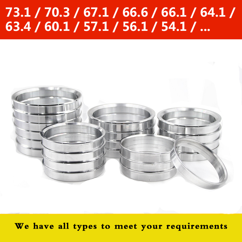 4 Pieces/ Lot Wheel Hub Center Rings OD 57.1 To 58.1\60.1\63.4\65\66.6\67.1 \72.6\73.1Aluminum Alloy Centric Hub Ring