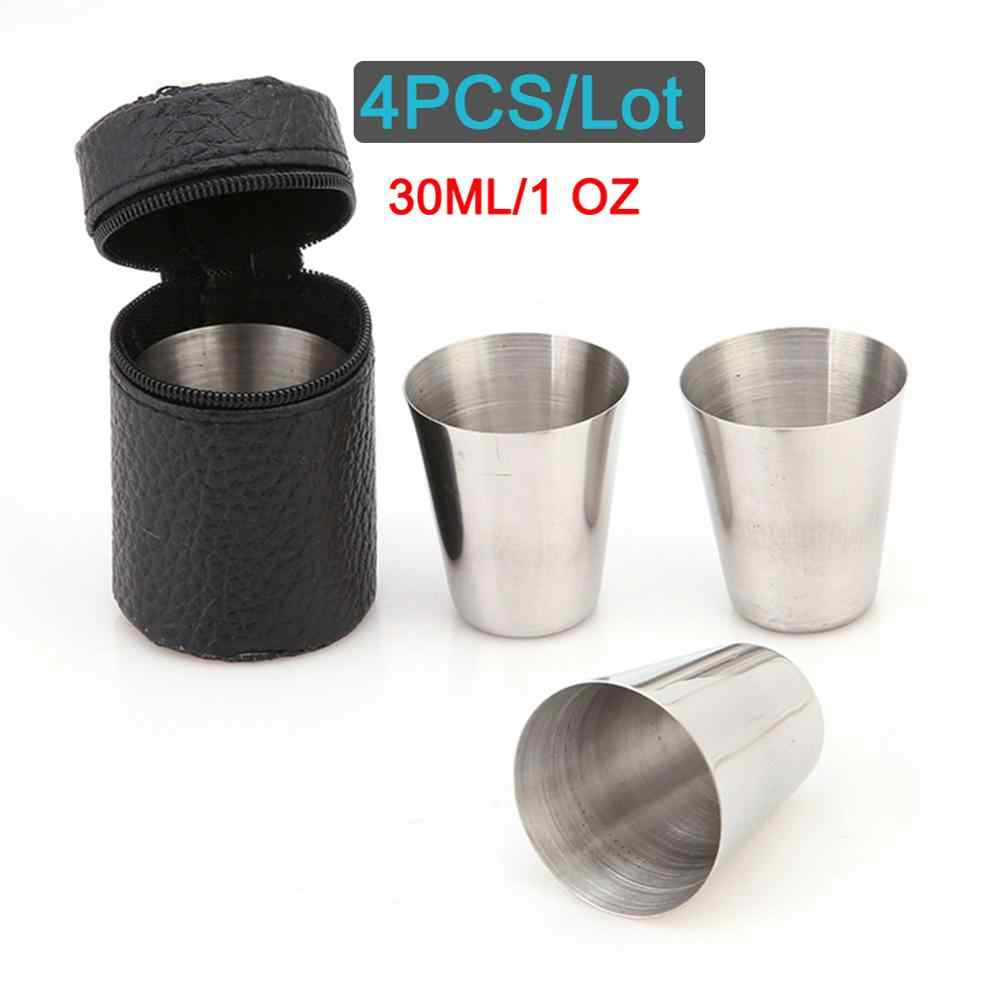 Tea Cup Stainless Steel Drinking Cups Juice Cup Easy to Carry Durable Reusable Camping Picnic Outdoor for Home