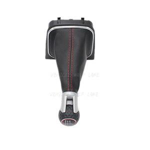 Image 3 - Для VW Golf 6 A6 VI MK6 GTI gtd R20 2009 2010 2011 2012 2013 автомобильный stying 5/6 Скорость Автомобильная липучка Шестерни рукоятка рычага переключения передач с кожаные ботинки