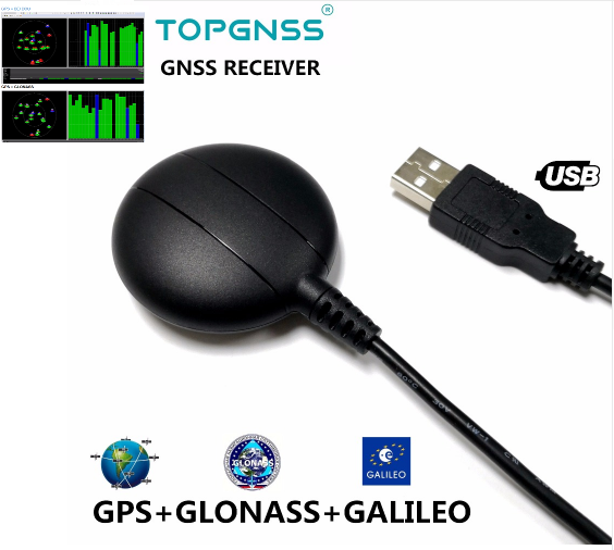 USB GPS Module High Precision GPS Receiver IPX67 Linux Xp Windows