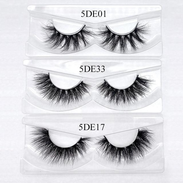 20/50/100Pairs Wholesale Mink Lashes 3D Mink Eyelashes 100% Cruelty free Lashes Handmade Reusable Natural False Lashes Makeup 3