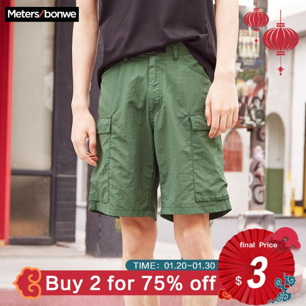 Metersbonwe Men's Summer Cargo Pants Couples Short Pants Fashion Loose Streetwear Shorts Camouflage Color Breathable Students
