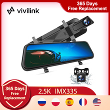 Cam Backup-Camera Parking-Monitor Dash-Cam Vivilink Full-Touch-Screen Vantop H610 Rear-View