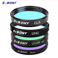 SVBONY 1.25\'\'UHC+CLS+Moon+UV/IR Cut Filters for Astronomy Telescope Monocular Astronomical Observations of Deep Sky Object