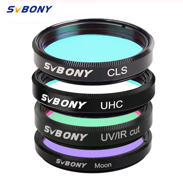 SVBONY 1.25 UHC + CLS + Moon + UV/IR قطع المرشحات مجموعة لتلسكوب الفلك أحادي العين الرصد الفلكي لكائن السماء العميقة