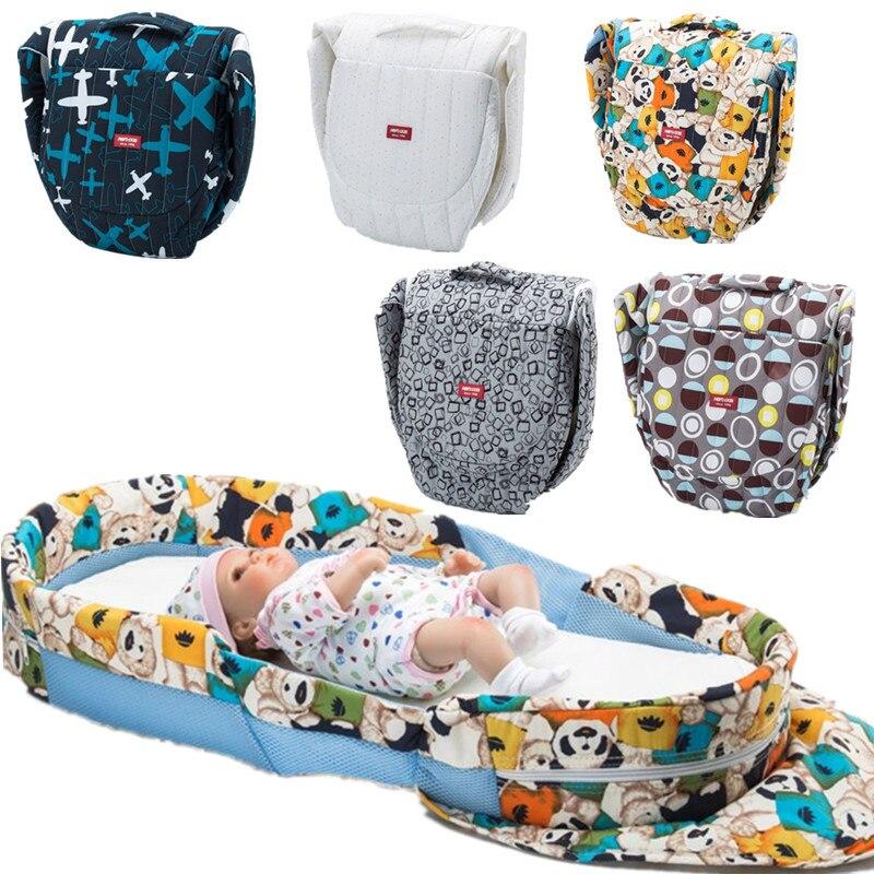 recem nascido dobravel movel berco multi funcao de viagem do bebe berco cama portatil infantil colchao