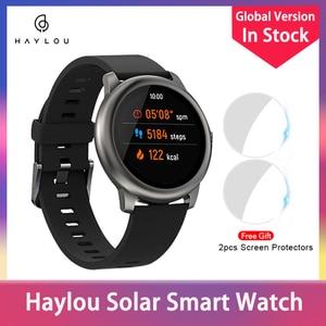 Haylou солнечные Смарт-часы LS05 монитор сердечного ритма во время сна IP68 Водонепроницаемый 30-дневный аккумулятор iOS Android спортивные мужские жен...
