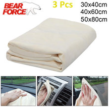 Camurça couro genuíno toalha de lavagem de carro detalhando pano de limpeza natural camurça couro toalha absorvente secagem rápida