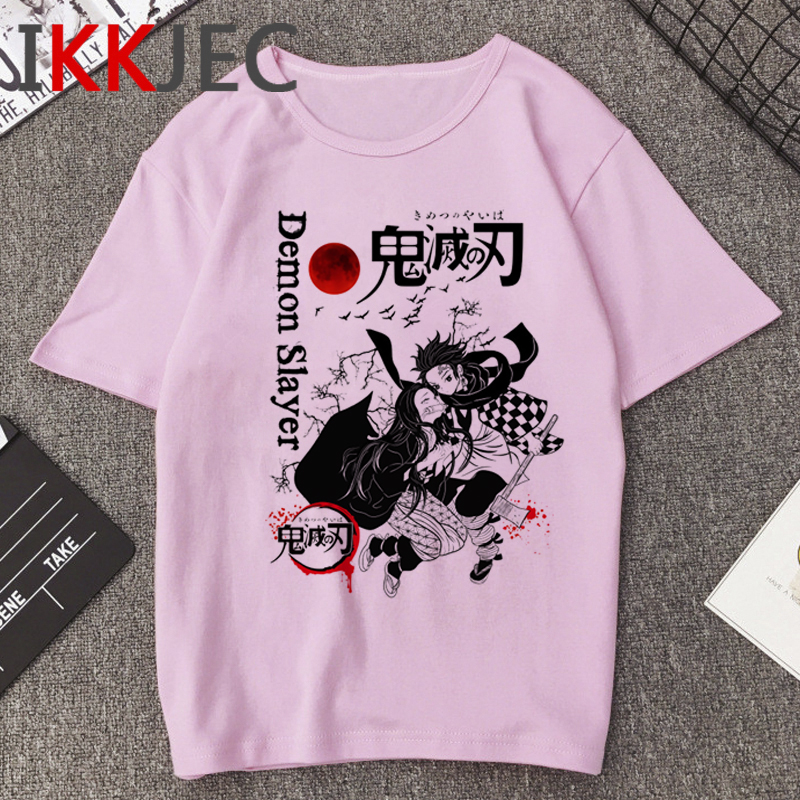 Kimetsu No Yaiba Funny Cartoon T Shirt Men Demon Slay Japanese Anime T-shirt Hip Hop Casual Tshirt New Streetwear Top Tees Male