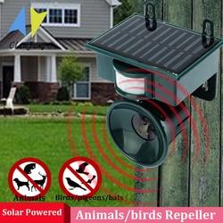Solar repeller de pragas aves jardim ao ar livre ultra-sônico pir sensor de movimento animal cão gato pássaro repeller scarer repelente dissuasor