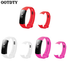 OOTDTY Replacement Silicone Adjustable Wrist Watch Band For Huawei Honor 3 Bracelet