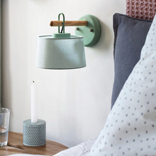 Modern Cloth Study Bedroom Bedside Lamp Lighting Wind Chimes LED Wall Sconce Living Dining Room Balcony Creative Decor Fixtures