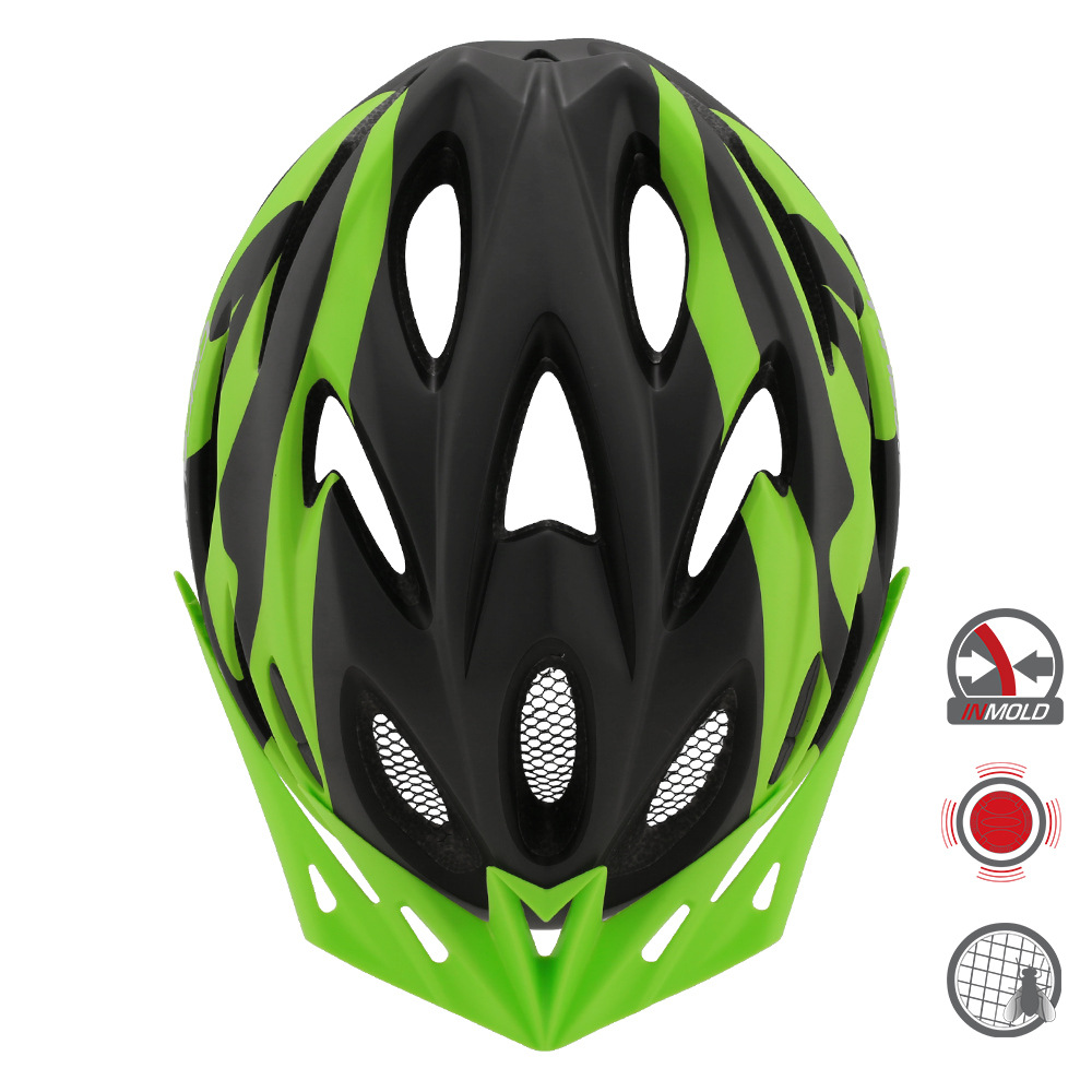 Unisex outdoor bicycle helmet, one-piece road and mountain bike sports and leisure cycling helmet