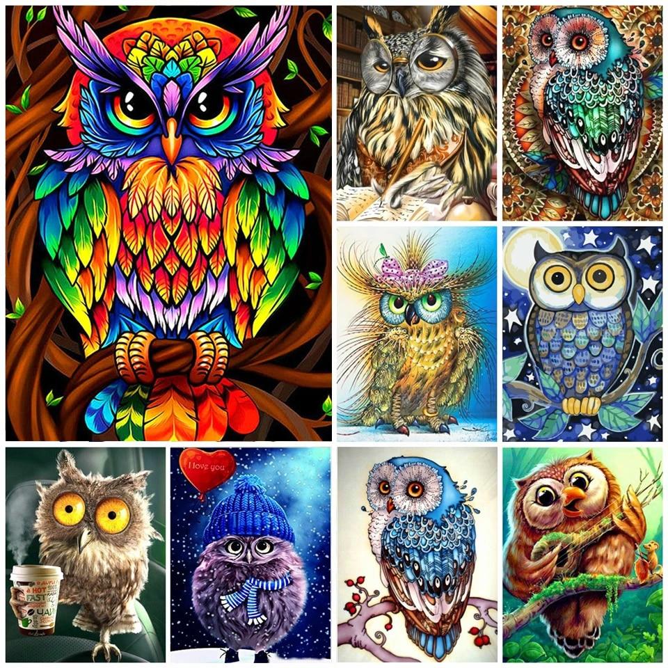 DIY Full Full Drill 5D Diamond Painting Embroidery Cross Stitch Art Kits Animal