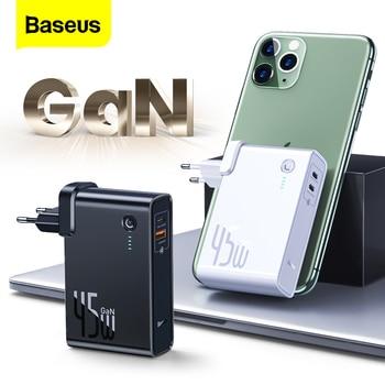 Baseus GaN 45w Power Bank 10000mAh Type C PD Fast USB Charger Powerbank Portable External Battery Charger For iPhone 11 Xiaomi