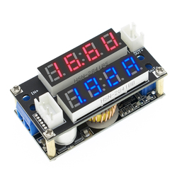 2 в 1 XL4015 5A Регулируемый Модуль зарядки CC/CV, светодиодный драйвер, вольтметр, амперметр, постоянный ток, постоянное напряжение