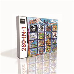 280 in 1 Hot Game Cartridge For DS 2DS 3DS Game Console with Pokemoned Black White HeartGold SoulSilver Platinum Marioed Kart image