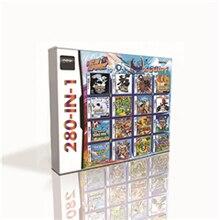 280 in 1 sıcak oyun kartuşu için DS 2DS 3DS oyun konsolu Pokemoned siyah beyaz HeartGold SoulSilver platin Marioed kart
