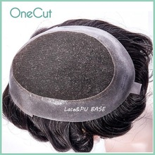 Lace PU Base Toupee Men Natural Black Simulate Hairpiece Hair Replacement System Male 100% Human Hairwigs Homme Hair Prosthesis