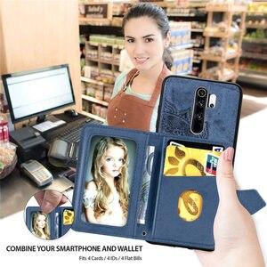 Держатель для карт, чехол-кошелек для Xiao mi note8 mi A3 9 8 Lite cc9 F1 Red mi 8 8a 7a 6a Go Note 8 7 6 Pro, автомобильный Магнитный чехол-подставка