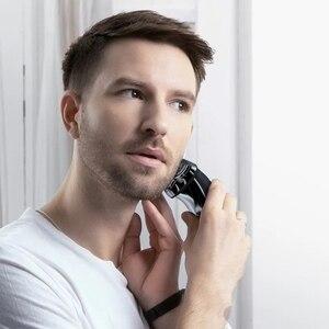 Image 3 - Youpin Enchen BlackStone 3 ماكينة حلاقة كهربائية ثلاثية الأبعاد الثلاثي العائمة شفرة رؤساء شفرات حلاقة الرجال الوجه أداة تهذيب اللحية