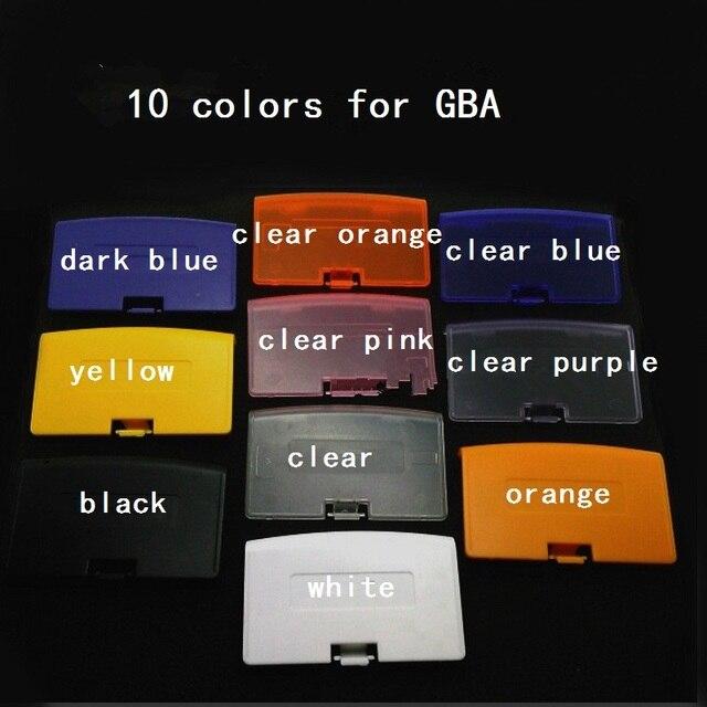 100 Adet 10 renk seçmek için GBA Için Pil Kapağı için Gameboy Advance Pil Kapağı durumda Yedek Kapı