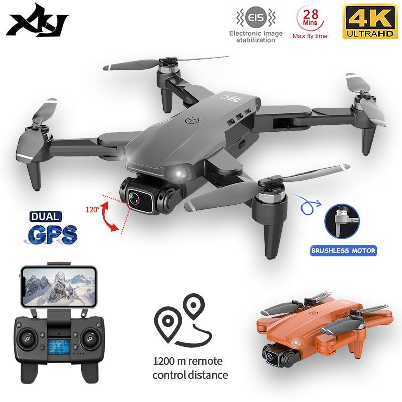 XKJ-Dron L900PRO con GPS, 4K, cámara Dual de HD, fotografía aérea profesional, Motor sin escobillas, Quadcopter plegable RC Distance1200M