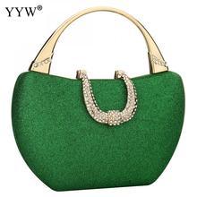 ירוק נצנצים תיק נשים מצמד ארנקי נשים ערב תיקים נוצצים כתף מעטפת מסיבת Handbagspochette Femme