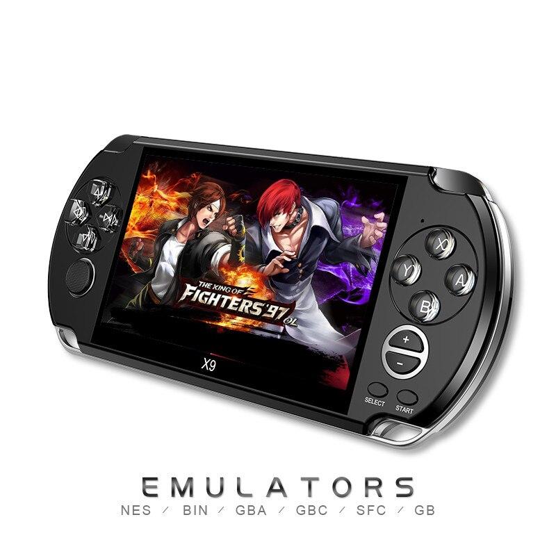 5.0 pouces grand écran lecteur de jeu de poche Support TV sortie avec MP3/film caméra multimédia Console de jeu vidéo nouveaux arrivants