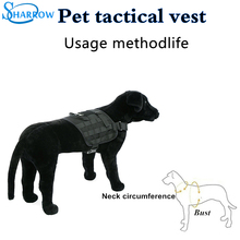 Tactical Dog Vest Service Pet Training Military Army Police Molle Harness Adjustable Shirt Clothes