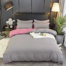 1 ud. 100% funda nórdica de algodón color sólido tamaño Queen tamaño King edredón cama individual doble Hotel ropa de cama artículo envío gratis