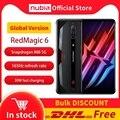 Nubia красный Магия 6 игровой смартфон глобальная версия 6,8 ''165 Гц активно-матричные осид, Snapdragon 888 Octa Core 30W зарядное устройство рамка RedMagic 6
