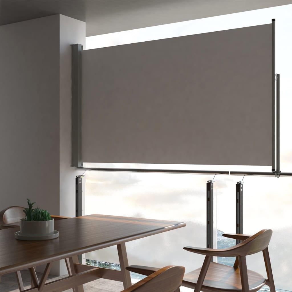 VidaXL Patio Retractable Side Awning 140 X 300 Cm Grey