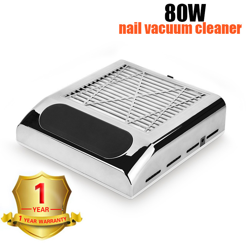 Professional 80W Nail Suction Dust Collector 110V/220V Nail Lamp Nail Dryer Automatic Sensing 10s Quick-Drying Art Tools