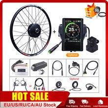 E-bike bafang motor do cubo da roda dianteira 48v 500w kits de conversão 20 26 27.5 700c jantes bicicleta elétrica diy peças kits ebike estáveis