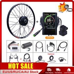 E-bike Bafang Front Wheel Hub Motor 48V 500W Conversion Kits 20 26 27.5 700C Rims Electric Bicycle DIY Parts Stable Ebike Kits(China)